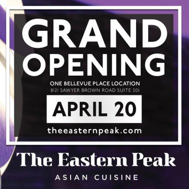 Grand Opening of The Eastern Peak Asian Cuisine at One Bellevue Place to be April 20