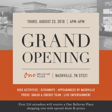 Celebrate One Bellevue Place – Grand Opening